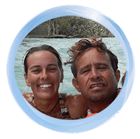 Catherine and Abel, dive instructor and Dive master
